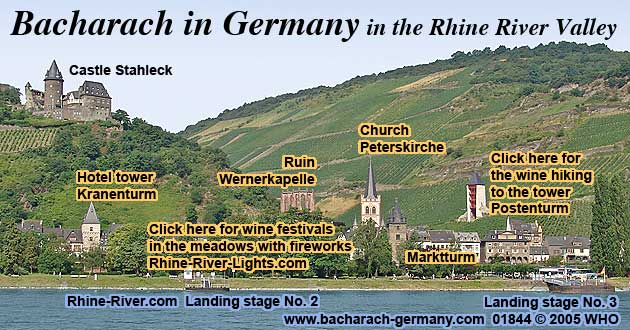 Rudesheim Germany Map.Bacharach Germany Rhine River Tours 2018 2019 Hotel Castle Map Rhein