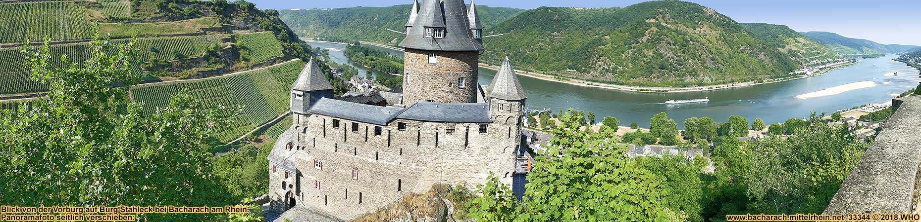 Castle Stahleck above Bacharach on the Rhine River in Germany.